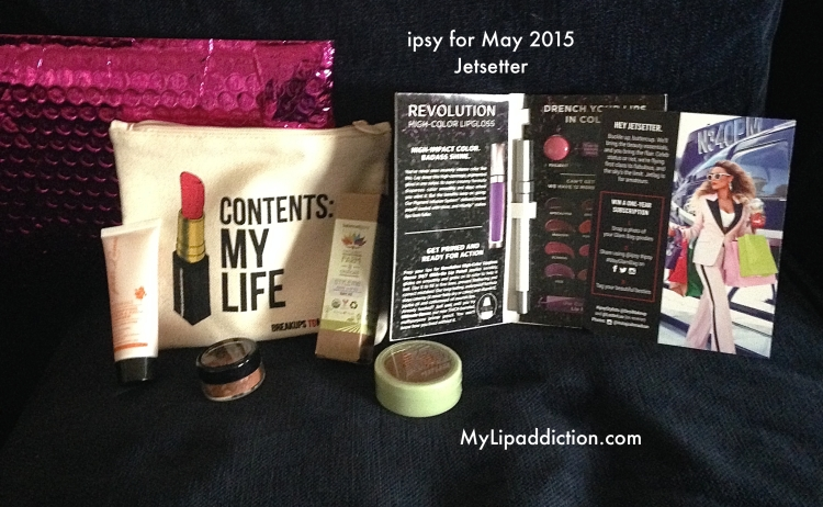 Ipsy for may 2015 Jetsetter
