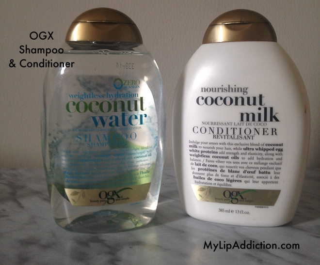 OGX Coconut eater & Milk shampoo and conditioner