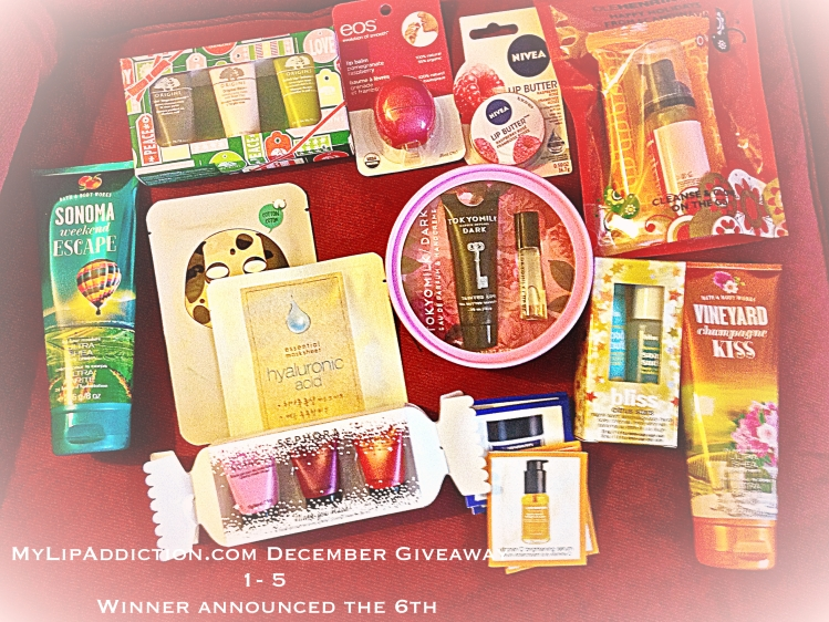 mylipaddiction,com december giveaway