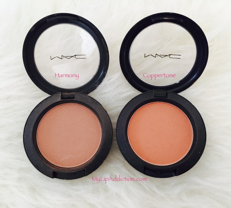 MyLipaddiction.com blushes - harmony and coppertone - mac