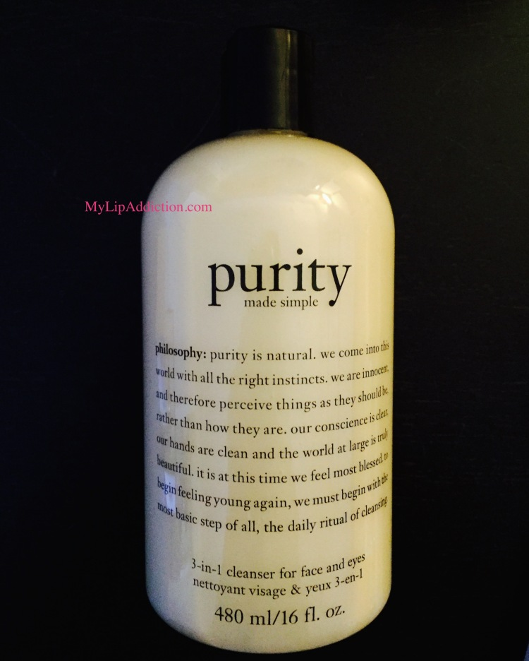 Philosophy Purity 3-in- 1 cleanser MyLipaddiction.com