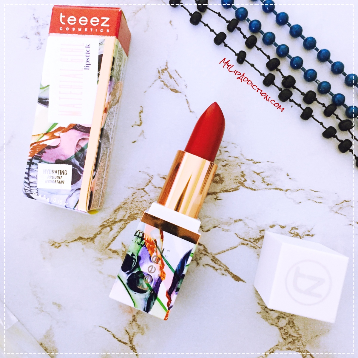Teeez Cosmetics - Material Girl Lipstick - A review - MyLipAddiction.com