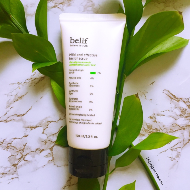 belif mild and effective facial scrub - mylipaddiction.com .jpg