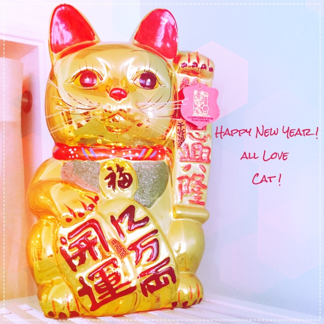 Happy New Yaer Love Cat